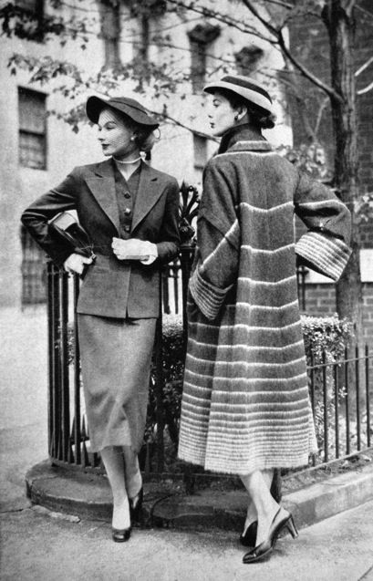 Vogue US 1951 Imagine strolling around post-war Paris, where women actually dressed in the latest fashions!