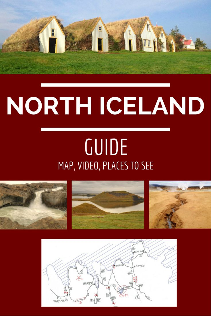 Destination guide for North Iceland: maps, video, places to see Iceland #travelplanningaddiction