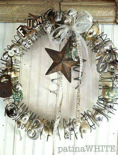 Slinky Christmas Wreath