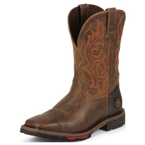 Justin Stampede WK4642 Mens Rugged Tan Boots