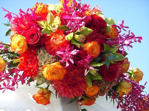 hot wedding flowers