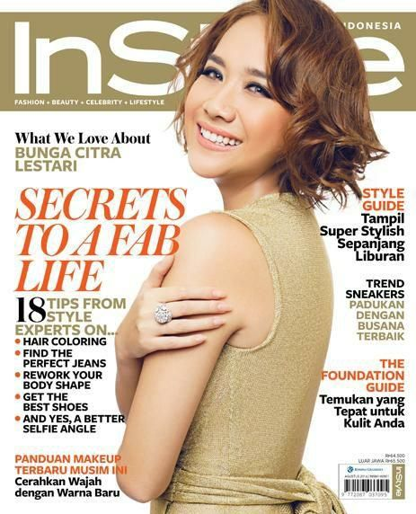 Bunga Citra Lestari for InStyle Indonesia August 2014