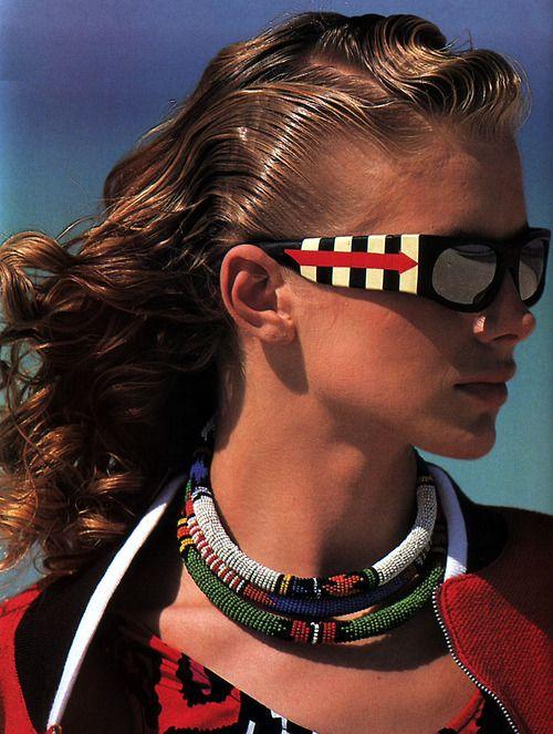 Oliviero Toscani for Elle magazine, February 1988. Sunglasses by Christian Roth.