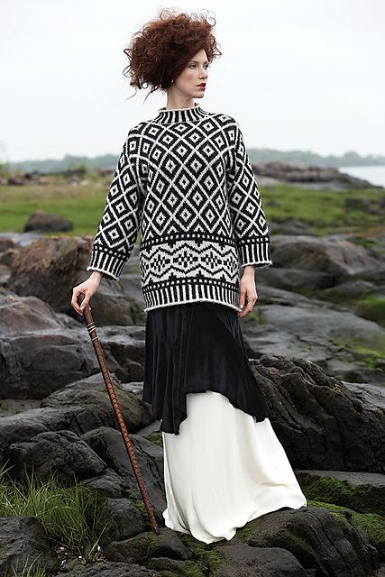 Oversize Nordic Pull by Kristin Nicholas   Published in Vogue Knitting Fall 2011 & Designer Knitting Autumn 2011