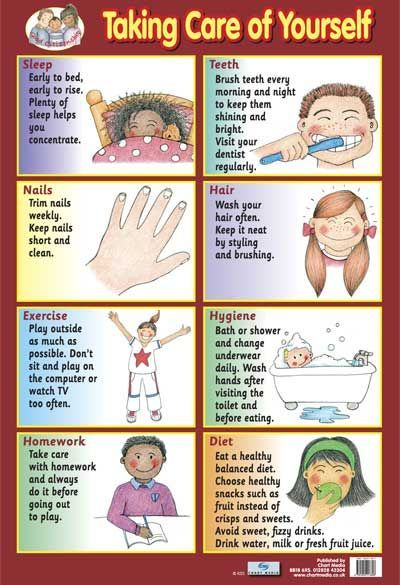 Great Chart for Kids on taking care of them selves and why.