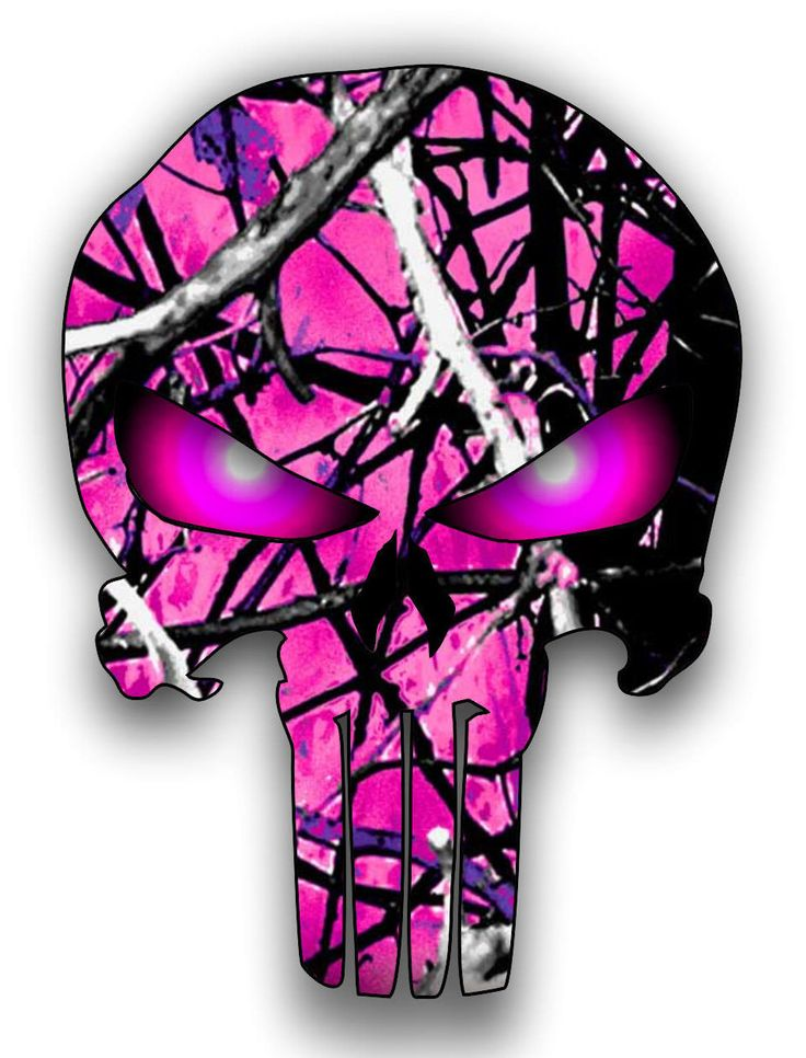 hot pink camouflage Punisher Skull glowing eyes sticker / decal **Free Shipping** by VinylJunkieGraphics on Etsy https://www.etsy.com/listing/248144248/hot-pink-camouflage-punisher-skull