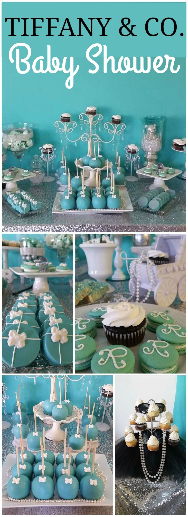 You have to see this Tiffany & Co. party with a baby twist! See more party ideas at CatchMyParty.com!