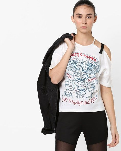 f003a2bc82 Women s Tshirts online. Buy Women s Tshirts online in India. – Ajio ...