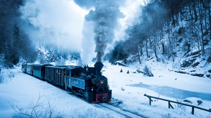 This is one of the few steam trains still functioning in Europe - and it can be found in Romania.
