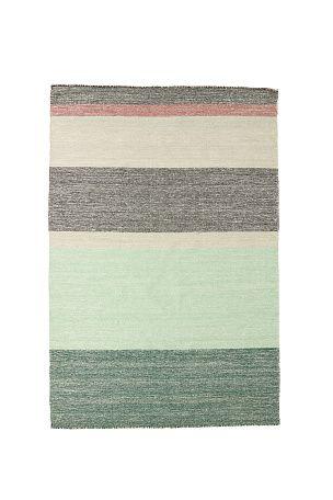 H�ndvevd teppe i ull. Et stilrent og tidl�st teppe med stripem�nster. Vedlikeholdsr�d: rens. <br><br>95% ull, 5% polyamid<br>Renses