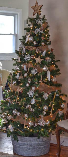 Wash tub Christmas tree stand