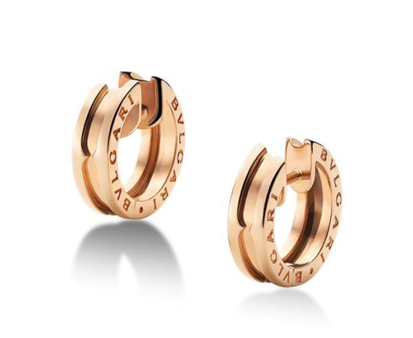 Bvlgari Creolen, roségold, hoop earrings