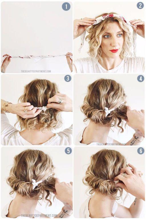 easy hair scarf tutorial via the beauty department