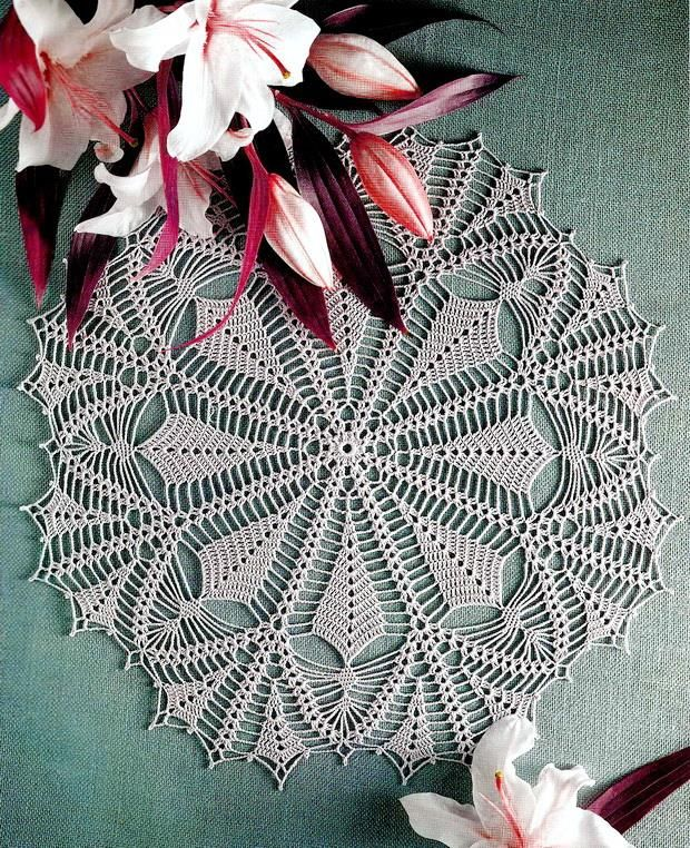Crochet Pattern Of Nice Lace Doily                                                                                                                                                                                 More