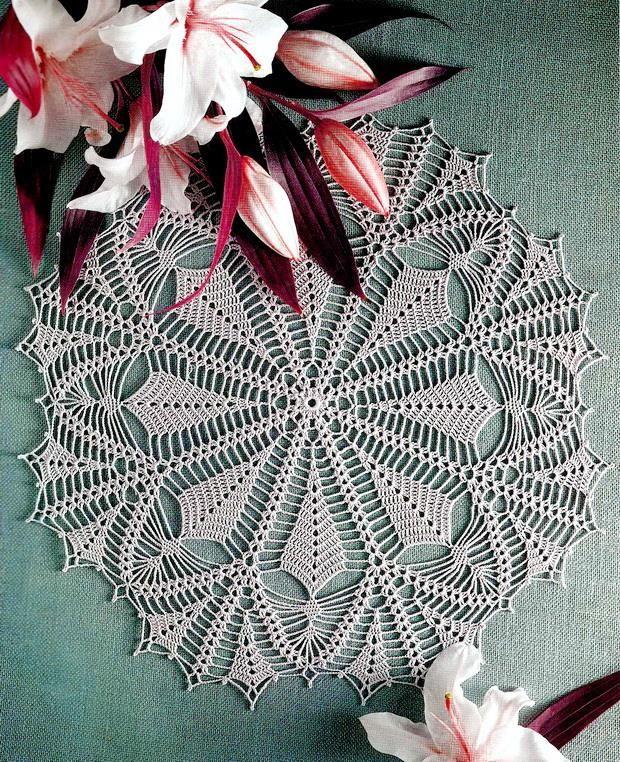 Crochet Art: Crochet Pattern Of Nice Lace Doily