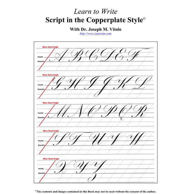 """""""Here is a PDF of my 86 page Script in the Copperplate Style Workshop Handout. It contains the hyperlinks to the videos; however, they may or may not be active depending upon the platform or the PDF viewer you are using. If I use Adobe Acrobat on my Mac, the links are active."""