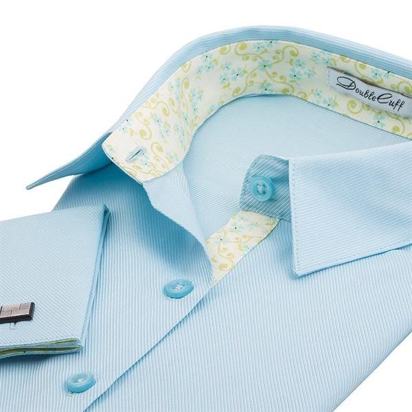 Бирюзовая рубашка с запонками