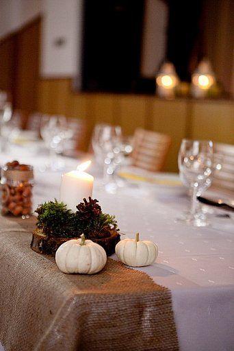 Prírodná jesenná výzdoba/Natural autumn wedding decoration