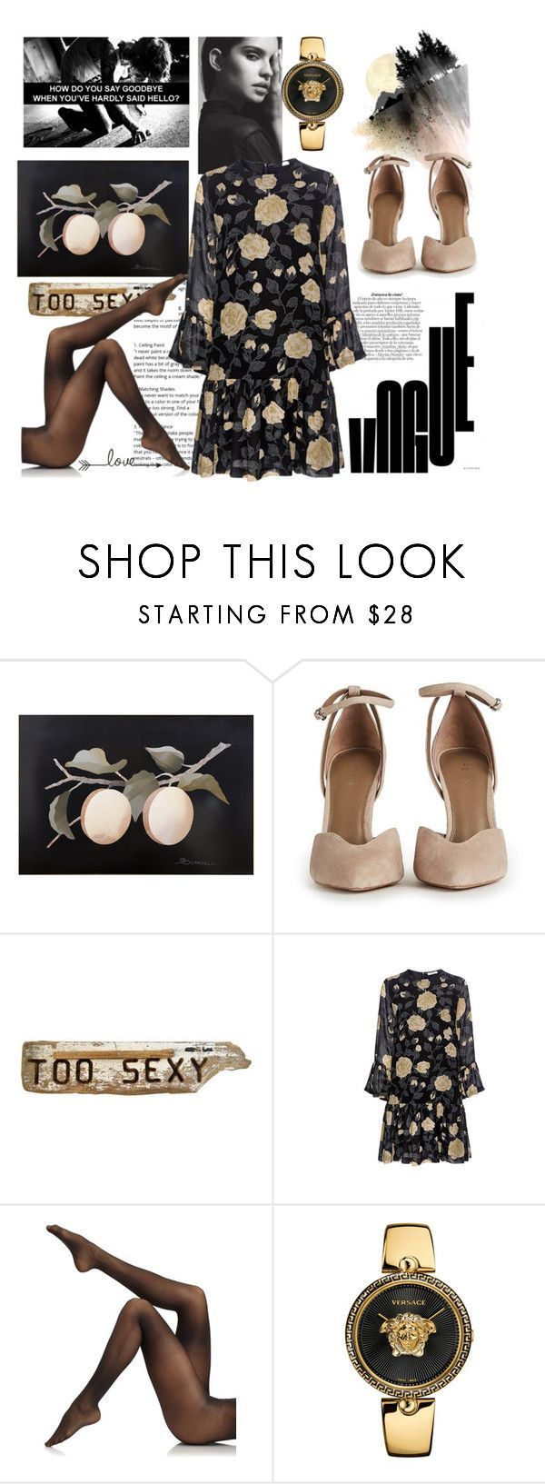 """""""Glamorous side"""" by toasumjas ❤ liked on Polyvore featuring Ganni, Donna Karan and Versace"""