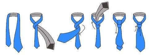 Как завязывать галстук.