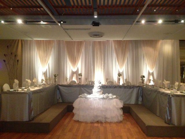 The head table in the KBCC Grand Ballroom