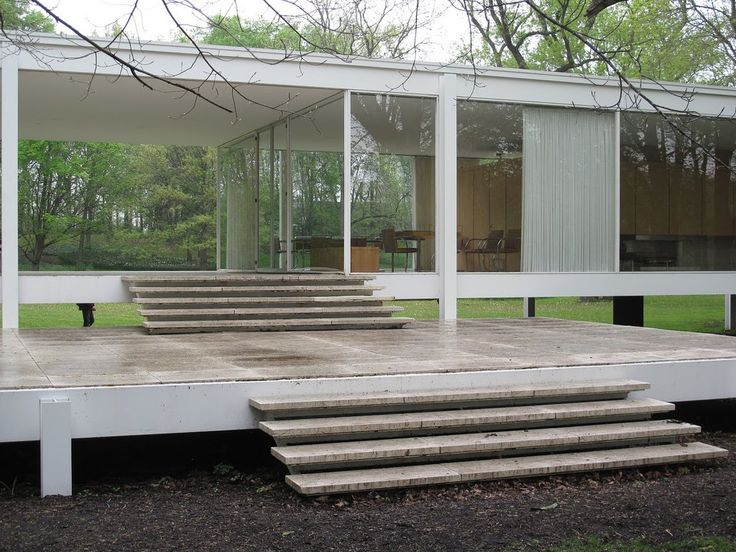 farnsworth house 1945 51 ludwig mies van der rohe. Black Bedroom Furniture Sets. Home Design Ideas