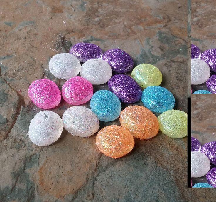 Fairy Garden, set of 10 Glitter Pebbles, Fairy Garden Accessories, Fairy Accessories, Miniatures, Fairy Miniatures, Miniature Accessories, by SpryHandcrafted on Etsy