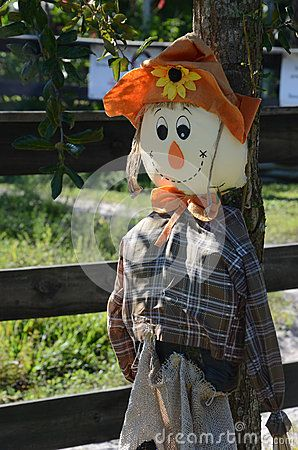 This friendly scarecrow stands guard over a small paddock where children can enjoy pony rides at a Sebastian, FL, area farm.