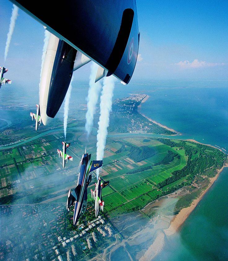 Lignano Sabbiadoro, Italy. Frecce Tricolori air show.