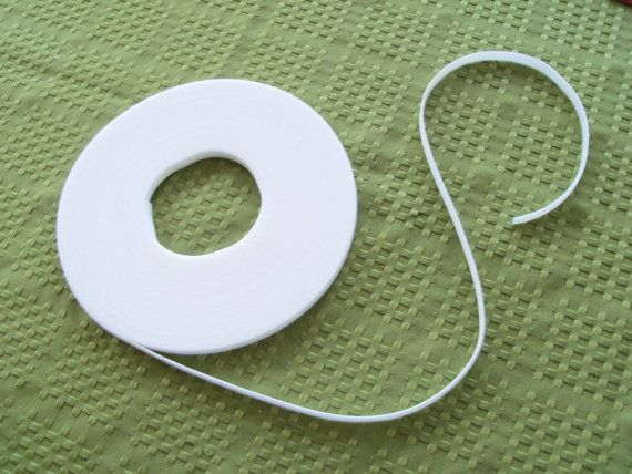 3 Yards White  UltraThin Velcro for Doll Clothes by Farmcookies, $5.50