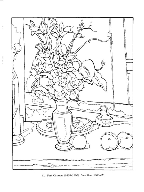 dover color your own great flower paintings  picasso