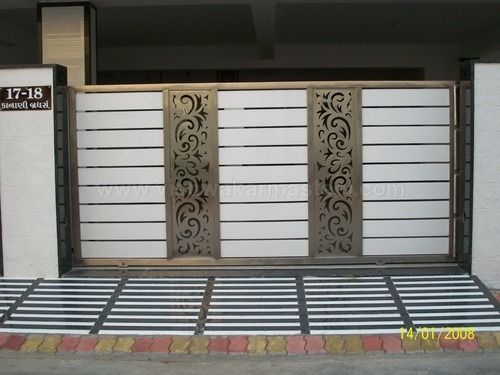 25 best ideas about steel gate design on pinterest for Main gate door design