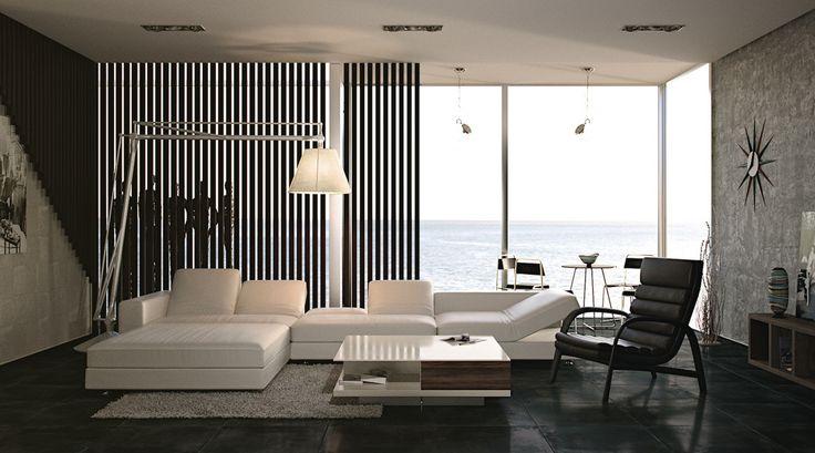25 идеальных чёрно-белых интерьеров