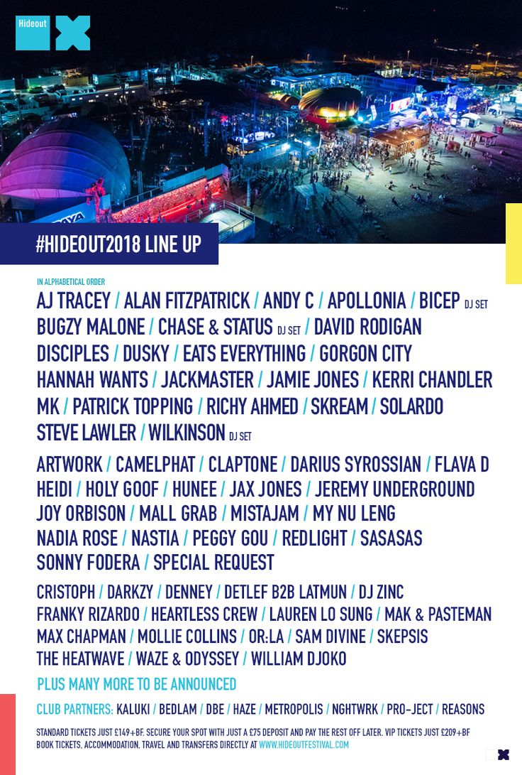 Hideout Festival Announces Second Wave of acts...: After announcing an unbeatable first wave of names, Hideout 2018 continues to shape up…