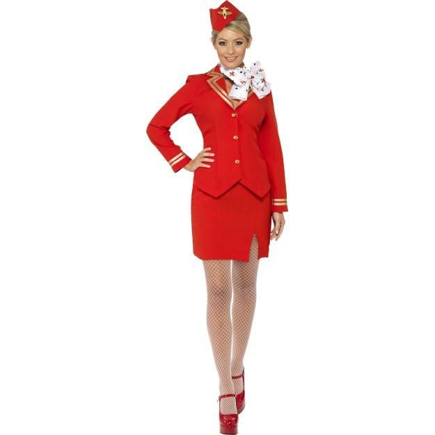 Women's Trolley Dolly Costume