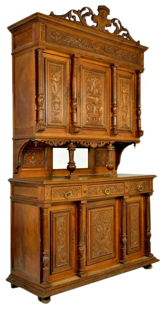 Antique French Victorian Double Buffet: