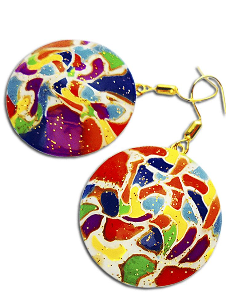 Rainbow earrings. My wife came up with the design of these earrings, and I will make them by my own hand from polymer clay. These earrings turned out to make a very happy and cheerful! And they are very beautiful shine in the sun :) https://www.etsy.com/listing/495479130/rainbow-earrings-multy-color-earrings