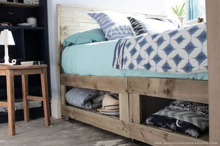 This brilliant storage hack is making us seriously rethink our bed frames