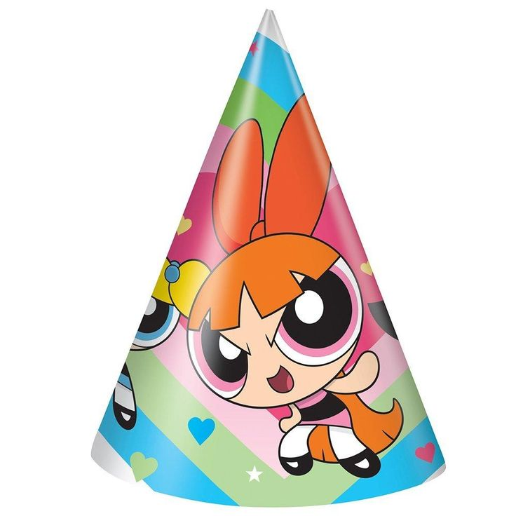 Powerpuff Girls Party Hats [8 per Pack]