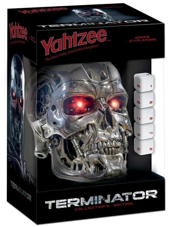 Terminator Yahtzee Game | This Terminator Yahtzee Game takes the classic game that you know and love and gives it a Terminator makeover.