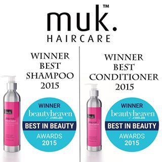 WINNERS! BEST IN BEAUTY AWARDS 2015 by beautyheaven.com.au  BEST SHAMPOO - DEEP MUK ULTRA SOFT SHAMPOO  BEST CONDITIONER - DEEP MUK UTRA SOFT CONDITIONER  Our second and third awards from the Best in Beauty Awards 2015 include our ever popular Deep muk Shampoo and Conditioner. Big thanks to all our loyal salons and fans who support us and voted for us in this competition. Go muk! For more info go to www.mukhair.com #muk #mukhair #mukhaircare #hair #beautyheaven #bestinbeauty2015…