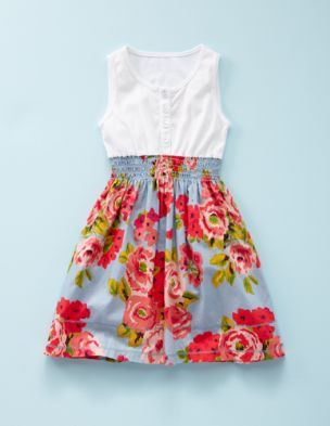 cute little girls dress.  (Not for sale anymore but could sew one with a T-shirt, shirred fabric for skirt!)