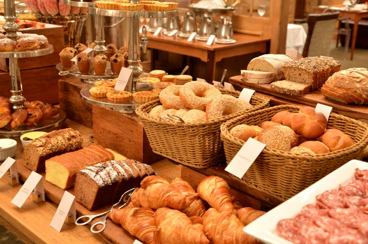 Delectable Breakfast Buffet at the Cape Grace hotel. Tthe most divine assortment of freshly baked breads & pastries available for your enjoyment.