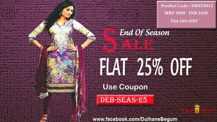 Beautiful Floral Printed Un-stitched Suit with Embroidered Neck and Pure Chiffon Dupatta.  http://goo.gl/O2jo9V Helpline : +91 9999 028502 / +91 9910 653101 Email : support@dulhan-e-begum.com