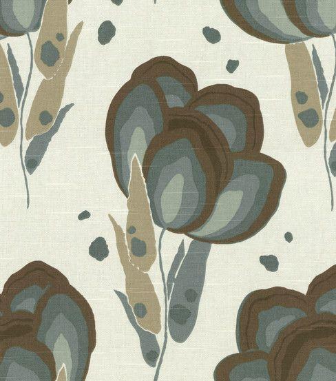 Home Decor Fabric Annie Selke Happy Poppys Slate Hi Res