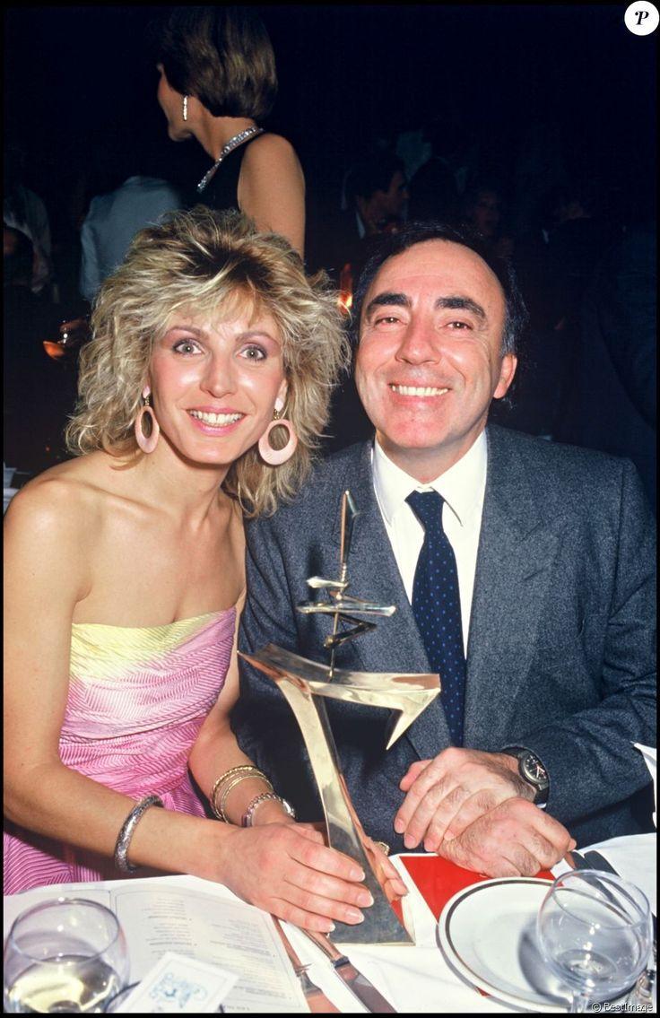 Evelyne Dhéliat et son mari Philippe. Octobre 1985.