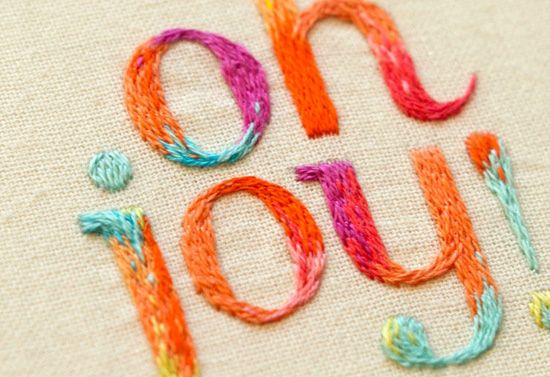 """Oh Joy!"" Beautiful Embroidered Logo, By Maricor Maricar"
