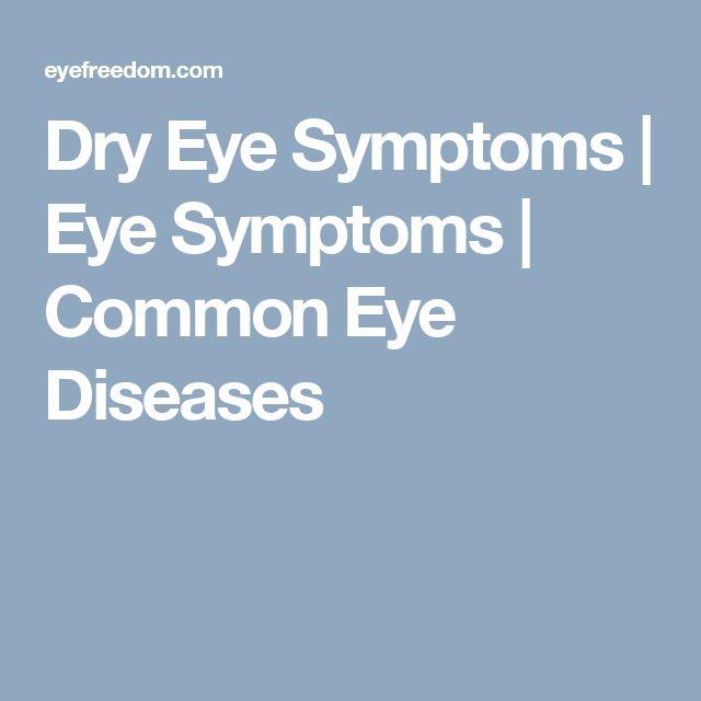 Dry Eye Symptoms | Eye Symptoms | Common Eye Diseases