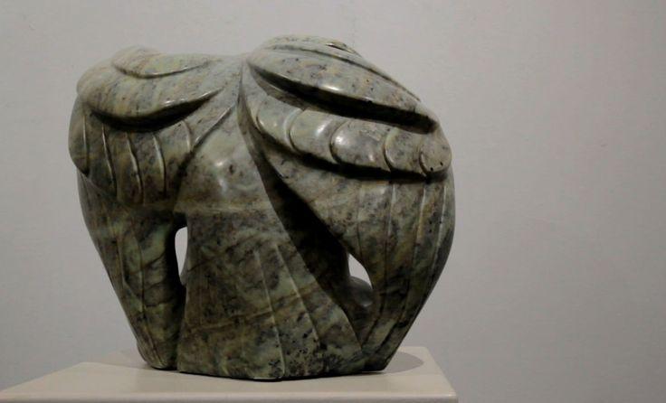 "Soap Stone carving by Abraham Anghik Ruben ""Raven"""