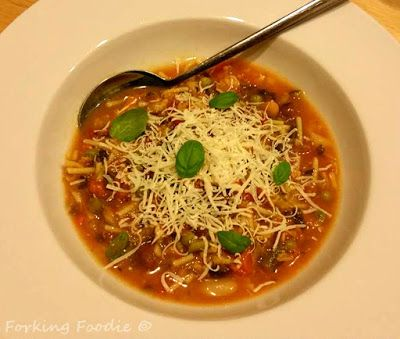 Forking Foodie: Chunky Minestrone Soup (includes Thermomix and Instant Pot Pressure Cooker instructions)